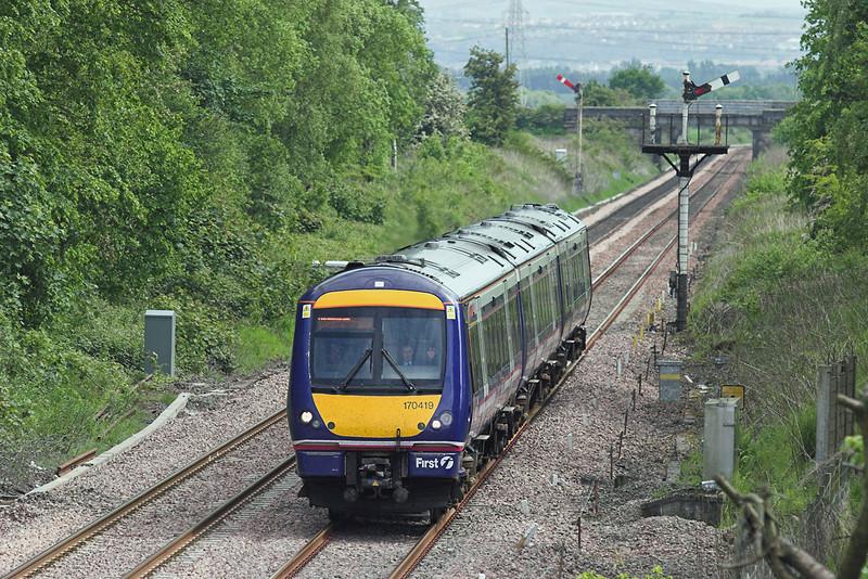 170419 Plean Junction 31/5/2007<br /> 1A69 1442 Glasgow Queen Street-Aberdeen