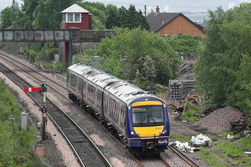 170411 Plean Junction 31/5/2007<br /> 1A67 1342 Glasgow Queen Street-Aberdeen