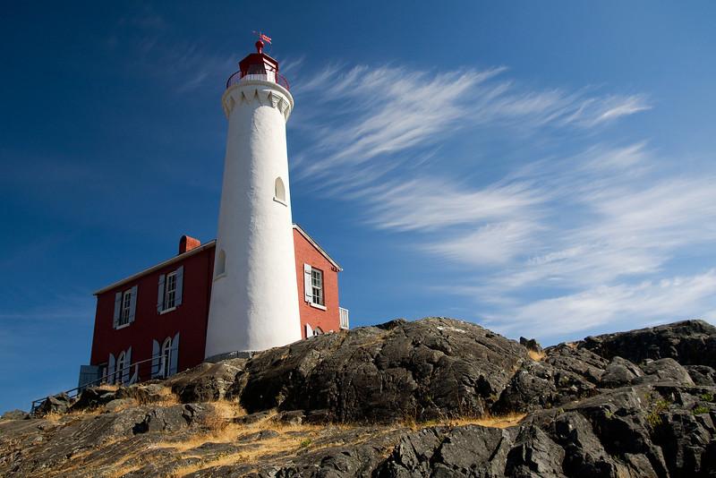 Fisgard Lighthouse in Fort Rodd Hill, Victoria, BC.