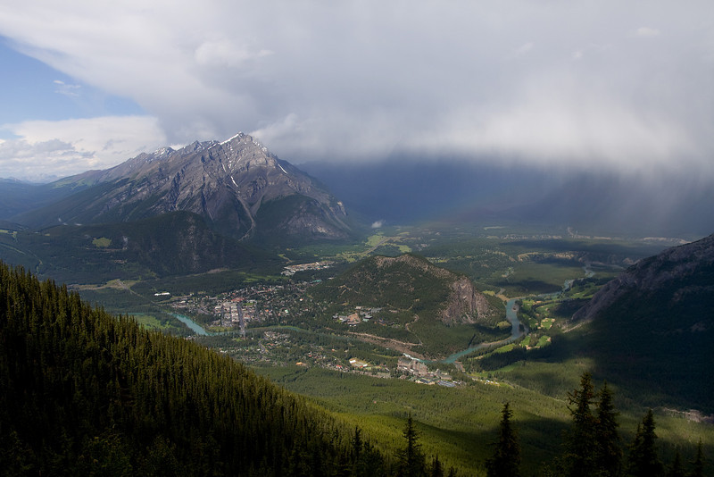 July 18th, 2008 - and its snowing above Banff, Alberta.