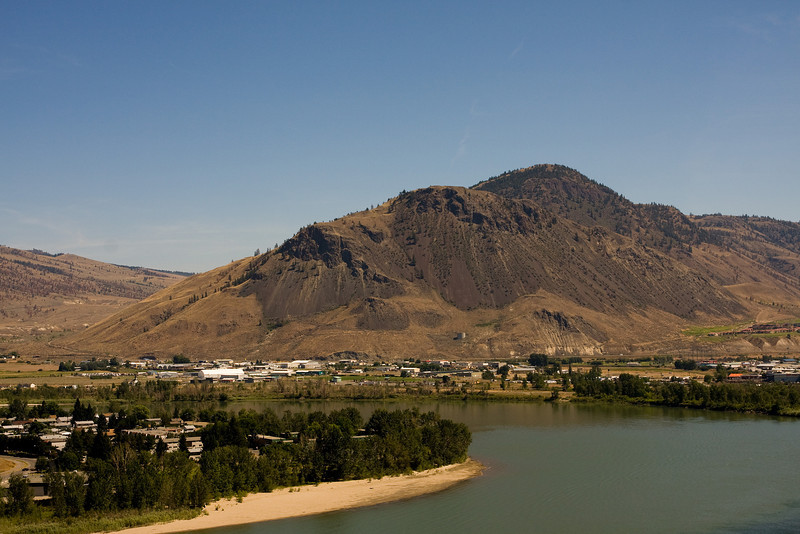 Anyone living, or has driven through Kamloops should recognise this mountain - Mount  Paul. I couldn't visit Kamloops without taking another photo of this mountain.<br /> <br /> Photo taken from the top of Battle Street (2008).