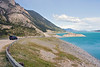 I believe this is still part of Abraham Lake. The colour of the water was unbelievable.