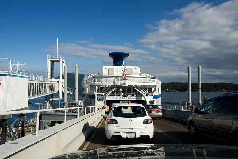 Still on Vancouver Island, we are about to board the ferry back to Vancouver.
