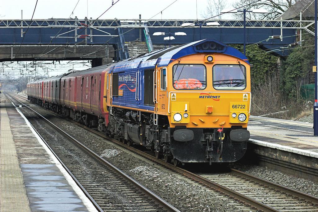 66722, 325017 and 325006, Acton Bridge 3/1/2008<br /> 1A32 1230 Warrington RMT-Willesden PRDC