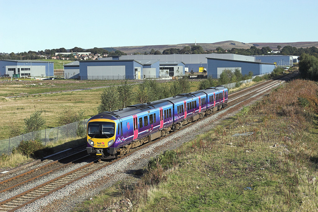 185132 Buckshaw Village 5/10/2008<br /> 1C54 1441 Manchester Airport-Barrow in Furness