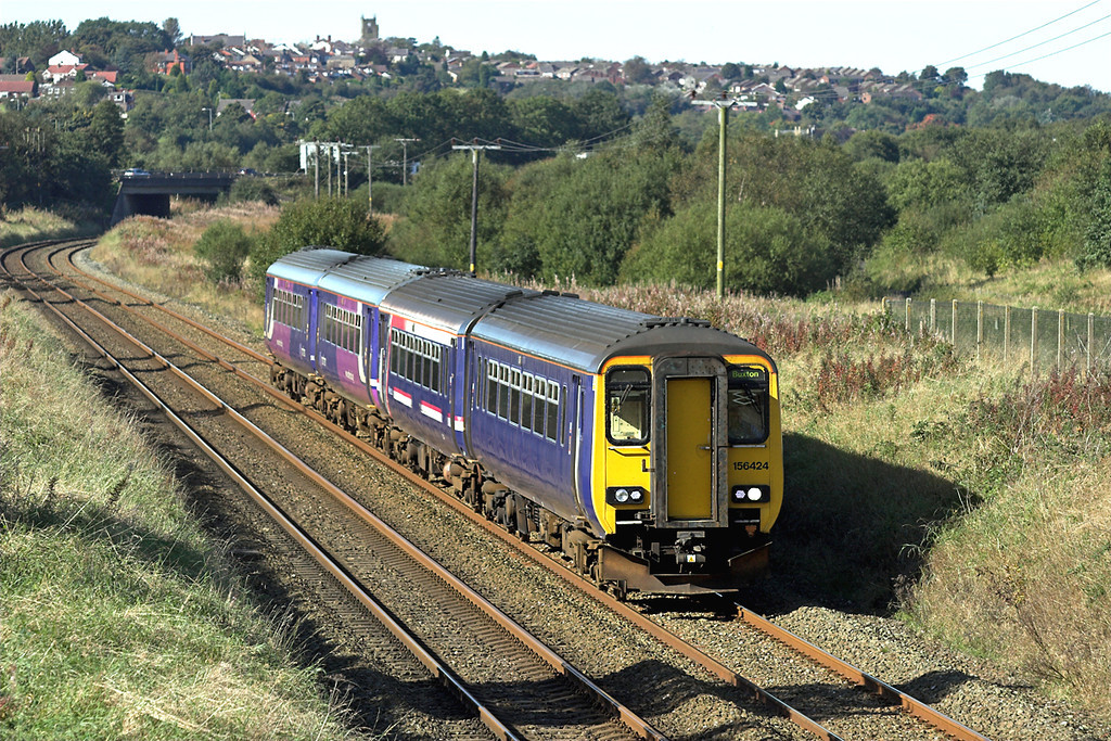156424 and 156443, Horwich Parkway 5/10/2008<br /> 2H90 1228 Blackpool North-Buxton