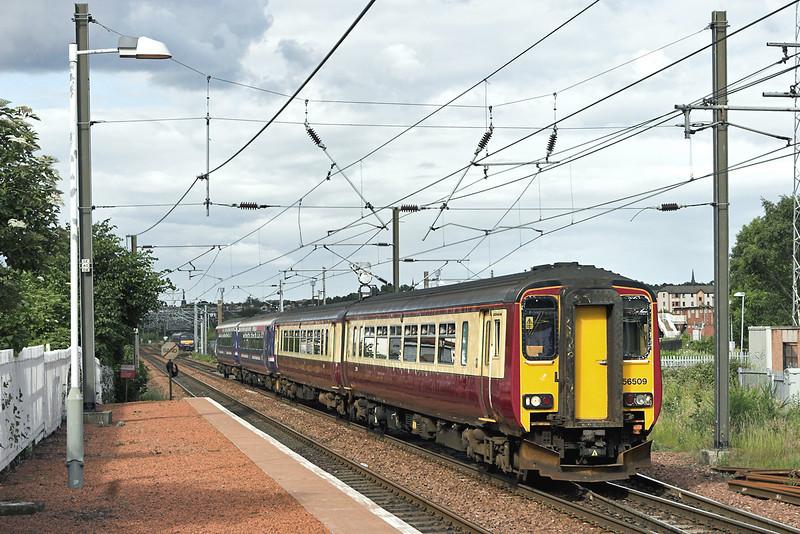 156509 and 156467, Slateford 7/7/2008<br /> 2Y77 1721 Edinburgh-Motherwell