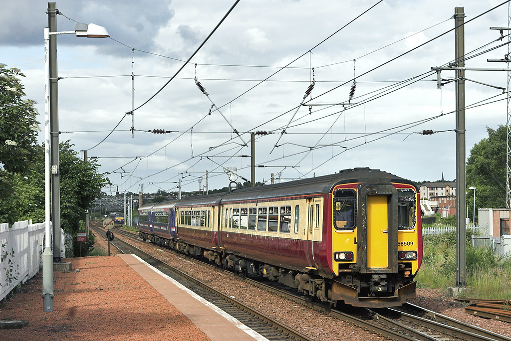 156509 and 156467, Slateford 7/7/2008<br /> 2Y77 1721 Edinburgh-Motherwell