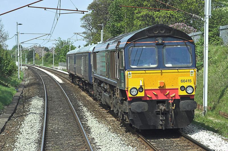 66415 Lancaster 8/5/2008<br /> 5Z15 1230 Carlisle Kingmoor-Crewe Gresty Bridge