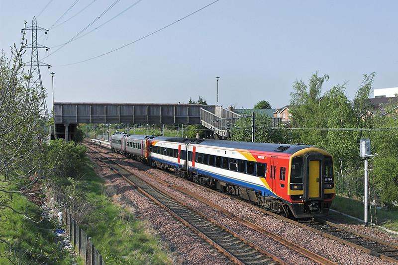 158786 and 158782, Brunstane 8/5/2008<br /> 2B16 1625 Bathgate-Newcraighall