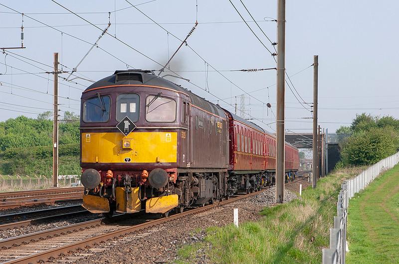 33025 Farington Junction 8/5/2008<br /> 5Z47 0830 Carnforth-Tyseley