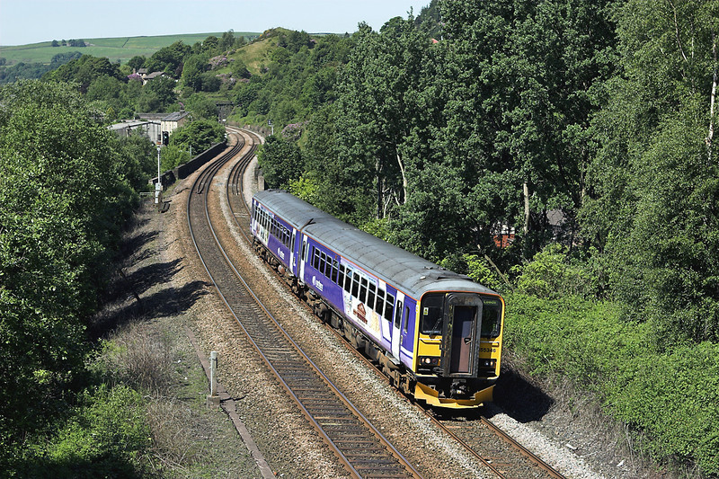 155346 Horsfall Tunnel 9/6/2008<br /> 2E11 0819 Manchester Victoria-Leeds