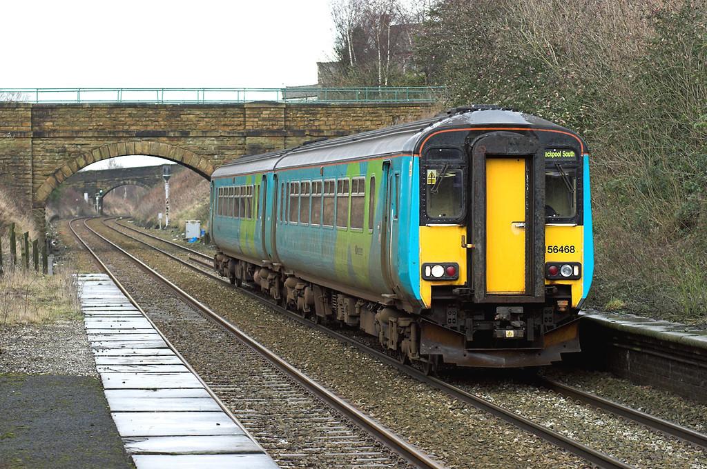 156468 Huncoat 12/1/2008<br /> 2N19 1300 Colne-Blackpool South
