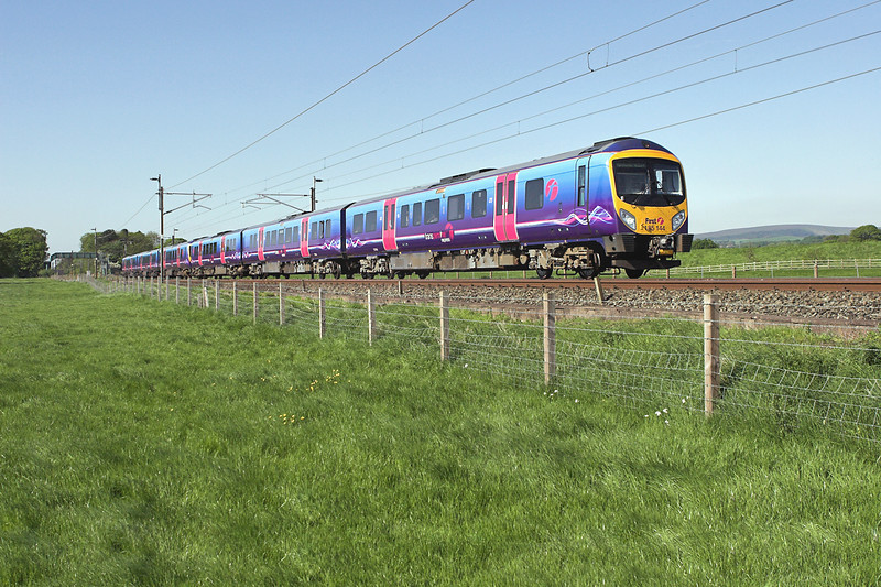 185144 and 185139, Brock 13/5/2008<br /> 1M95 1340 Glasgow Central-Manchester Airport