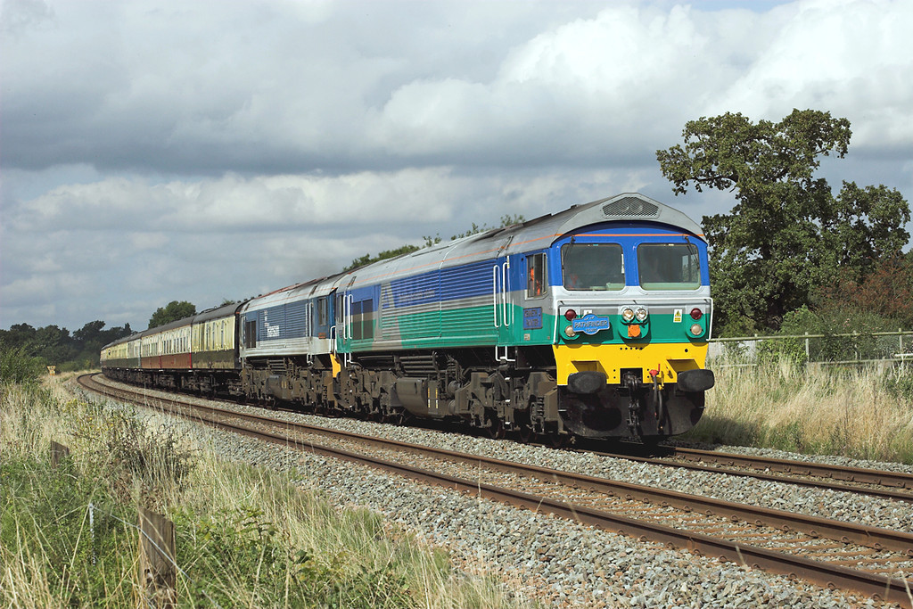 59005 and 59104, Rowton 13/9/2008<br /> 1Z59 0700 Cranmore-Crewe