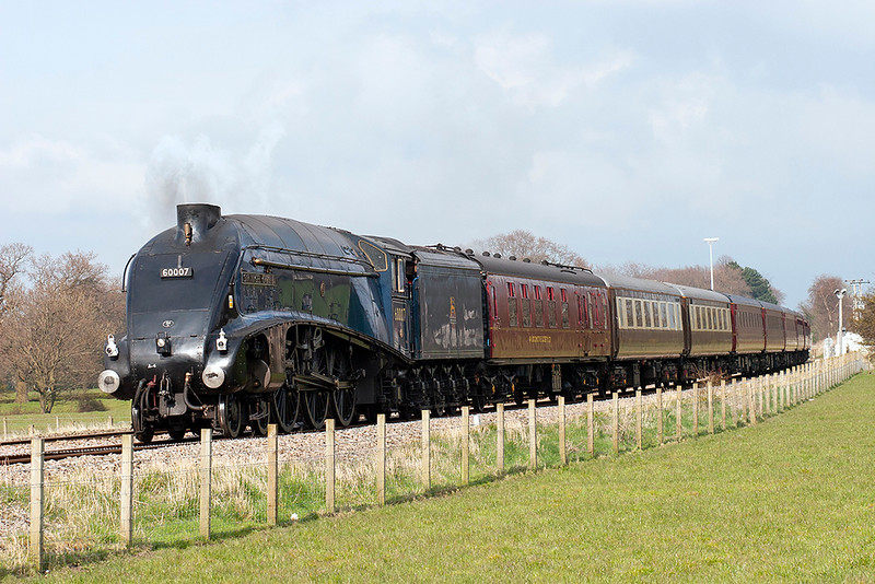 60007 'Sir Nigel Gresley', Gregson Lane 16/4/2008<br /> 5Z23 1058 Carnforth-Carnforth<br /> (via Hellifield, Blackburn)