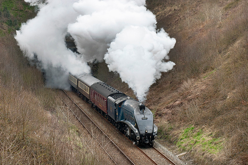 60007 'Sir Nigel Gresley', Wilpshire 16/4/2008<br /> 5Z23 1058 Carnforth-Carnforth<br /> (via Hellifield, Blackburn)