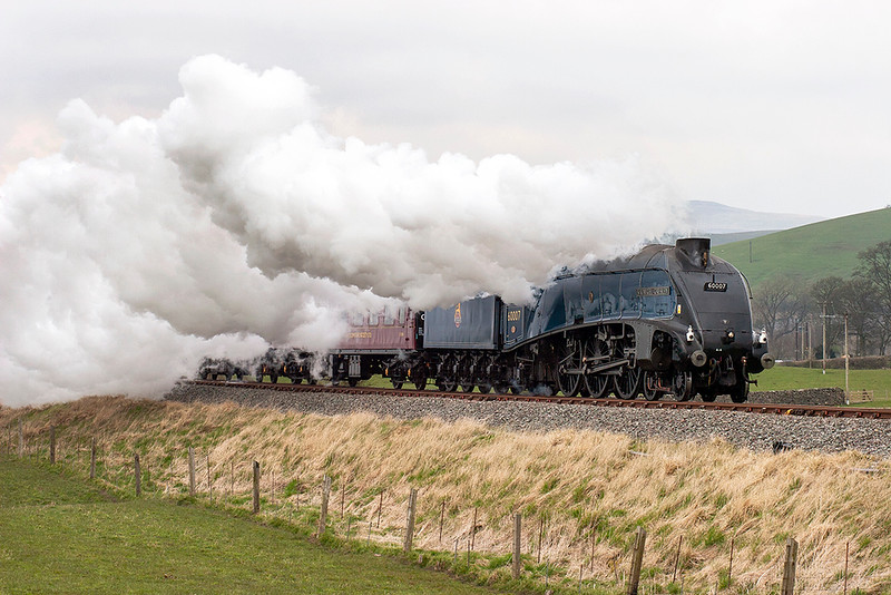 60007 'Sir Nigel Gresley', Hellifield 16/4/2008<br /> 5Z23 1058 Carnforth-Carnforth<br /> (via Hellifield, Blackburn)