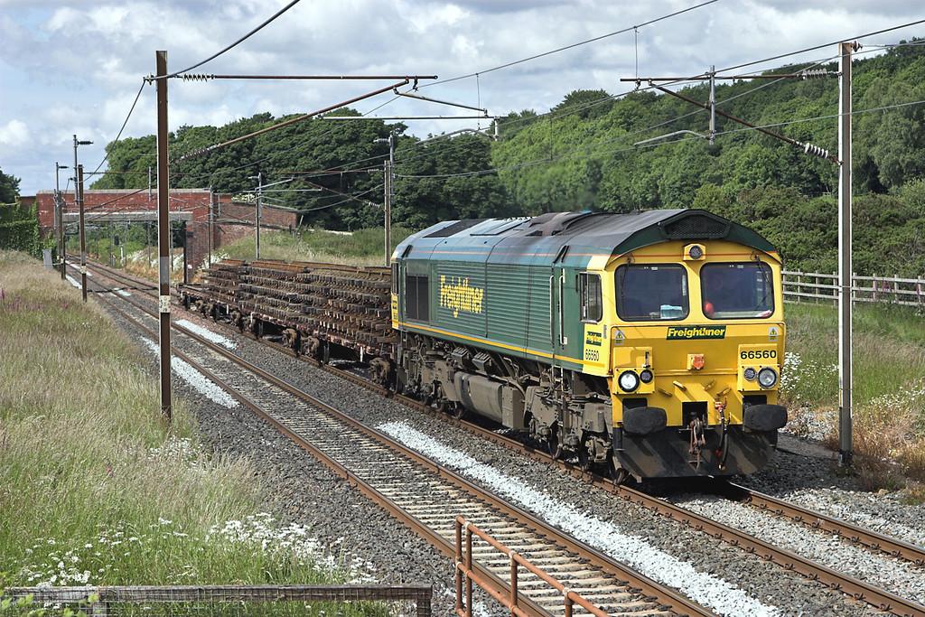 66560 Woodacre 16/6/2008<br /> 6Y01 1230 Horrocksford Junction-Basford Hall