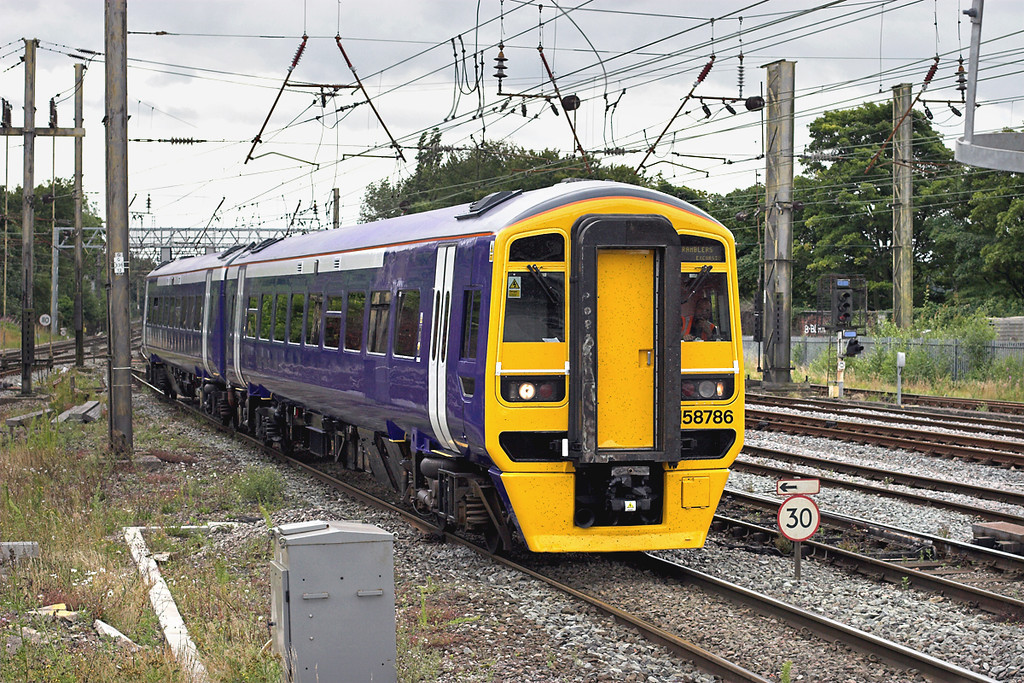 158786 Preston 16/8/2008<br /> 5Z58 1230 Newton Heath TMD-Haymarket TMD