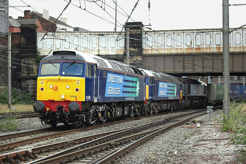 57010, 57011 and 66412, Preston 16/8/2008<br /> 4Z50 0840 Daventry-Grangemouth