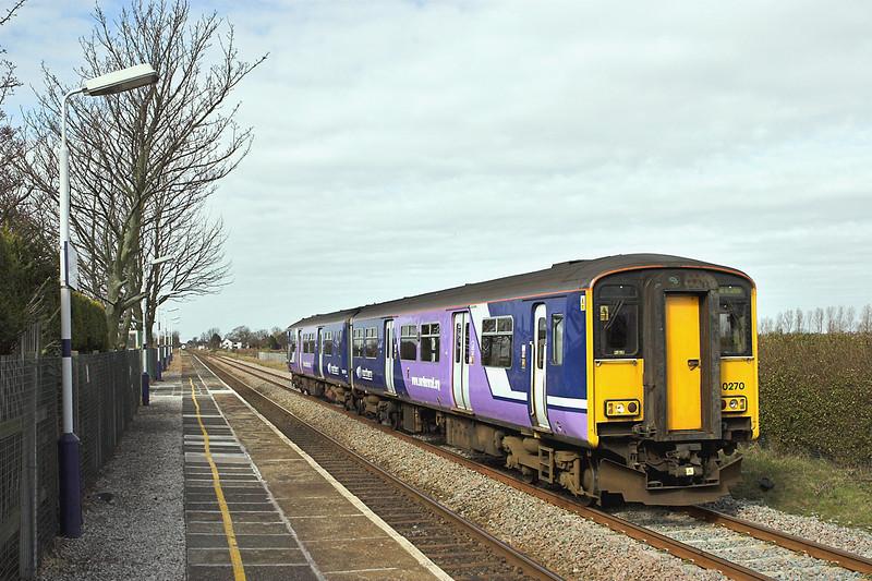 150270 Hoscar 18/3/2008<br /> 2J62 1015 Southport-Rochdale