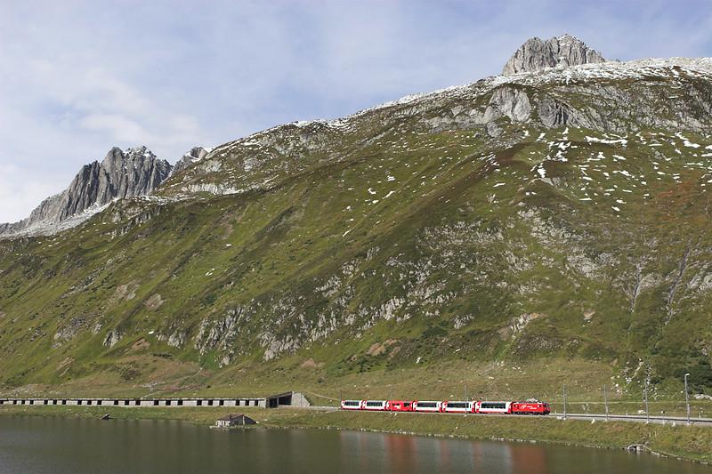 103 Oberalppass 18/9/2008<br /> D908 1013 Zermatt-St Moritz