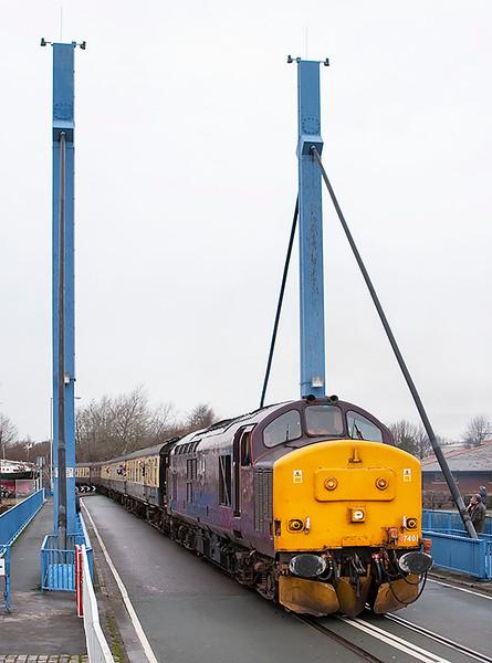 37401 Preston Docks 19/1/2008<br /> 1Z67 1426 Preston Docks-Heysham Port