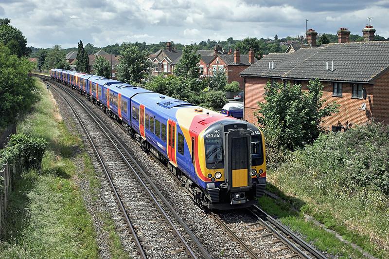 450561 and 450560, Egham 19/6/2008<br /> 2S30 1103 Weybridge-London Waterloo