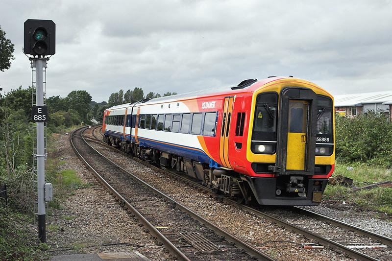 158886 Romsey 20/8/2008<br /> 2S54 1448 Salisbury-Romsey (via Southampton Central)