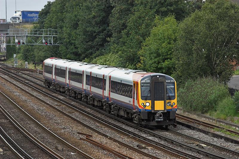 444031 Southampton 20/8/2008<br /> 1W38 1020 Weymouth-London Waterloo