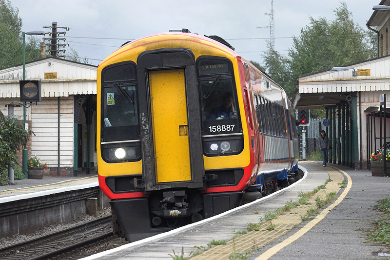 158887 Romsey 20/8/2008<br /> 2S43 1505 Romsey-Salisbury (via Southampton Central)