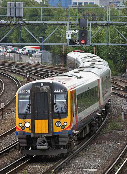 444018 Southampton 20/8/2008<br /> 1W31 1135 London Waterloo-Weymouth