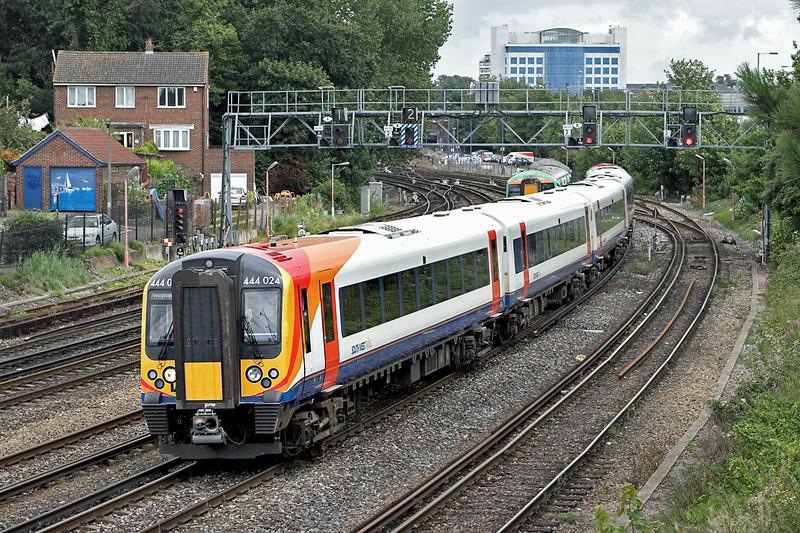 444024 Southampton 20/8/2008<br /> 2B23 0939 London Waterloo-Poole