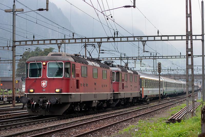 11112 and 11304, Erstfeld 20/9/2008<br /> CIS151 0709 Zürich HB-Milano Centrale
