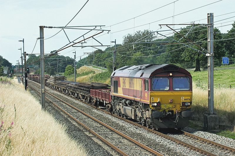 66076 Woodacre 21/7/2008<br /> 7K05 1314 Carlisle Yard-Basford Hall