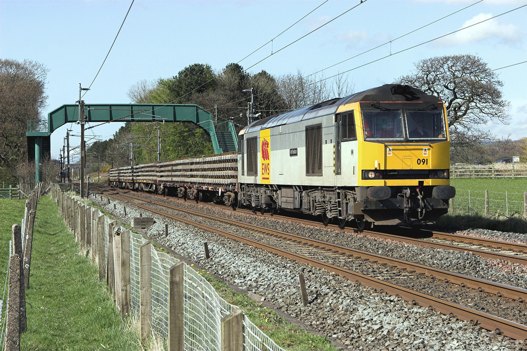 60091 Brock 23/4/2008<br /> 6K05 1314 Carlisle Yard-Basford Hall