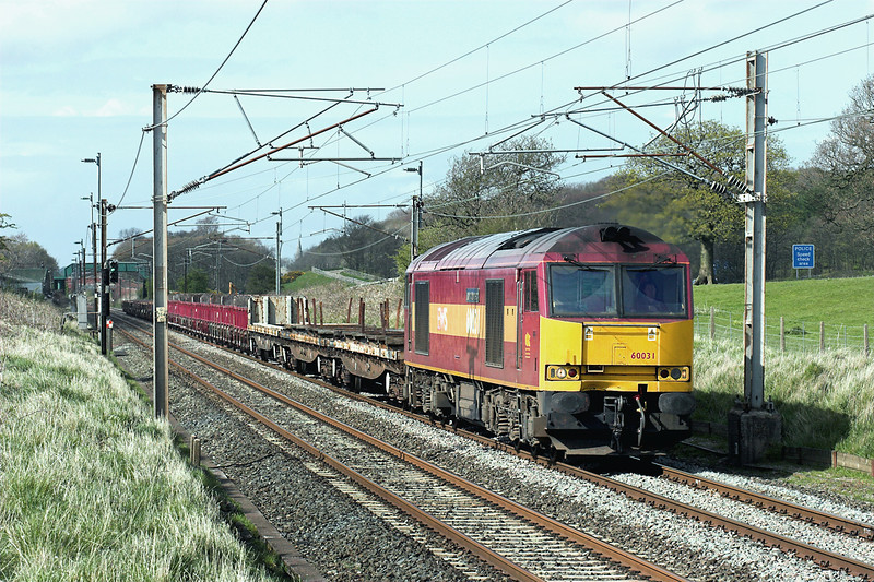 60031 Woodacre 24/4/2008<br /> 6K05 1314 Carlisle Yard-Basford Hall