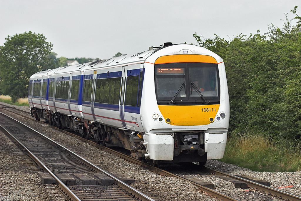 168111 Kings Sutton 24/7/2008<br /> 1H46 1412 Birmingham Snow Hill-London Marylebone