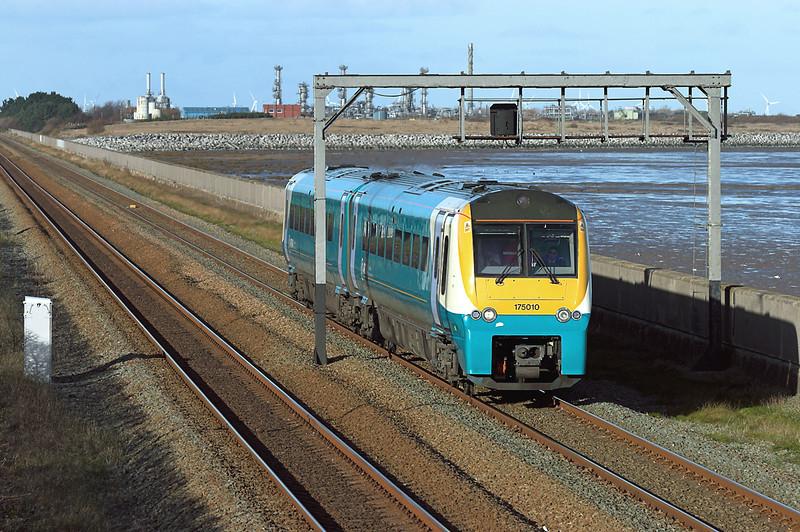 175010 Ffynnongroyw 25/11/2008<br /> 1K13 0928 Holyhead-Crewe