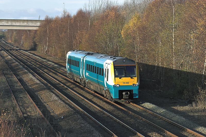175008 Maes Glas 25/11/2008<br /> 1V59 1235 Holyhead-Cardiff Central
