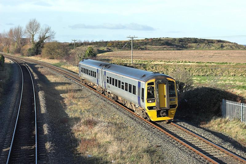 158838 Bagillt 25/11/2008<br /> 1K02 1140 Holyhead-Crewe