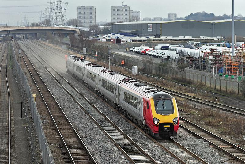 221132 Washwood Heath 29/1/2008<br /> 9V41 0608 Edinburgh-Plymouth