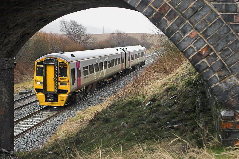 158871 Ais Gill 29/3/2008<br /> 2H88 1249 Leeds-Carlisle