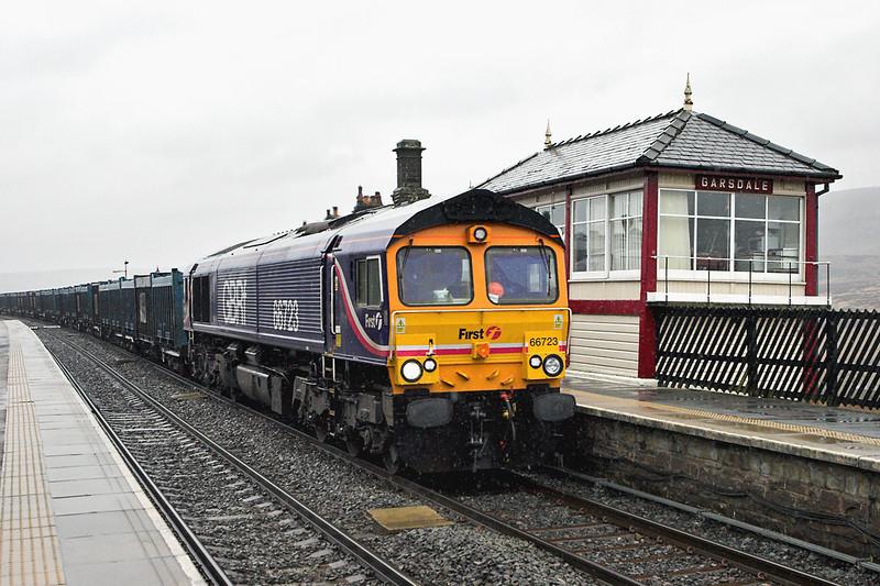 66723 Garsdale 29/3/2008<br /> 4M52 0918 Doncaster Decoy Yard-Newbiggin