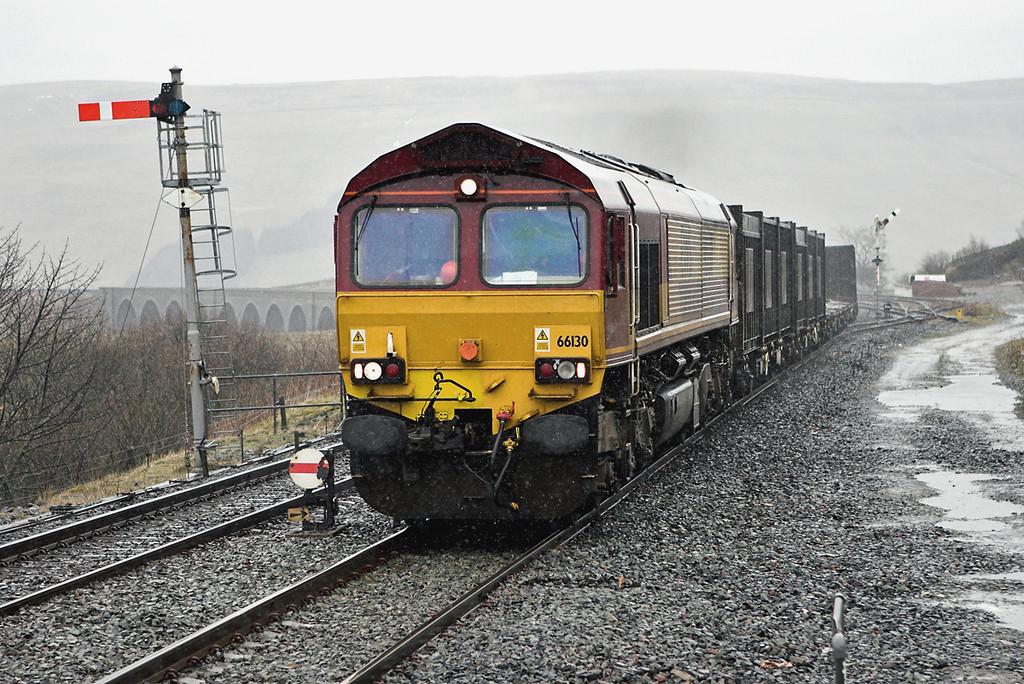 66130 Garsdale 29/3/2008<br /> 6E13 1319 Newbiggin-Milford Sidings