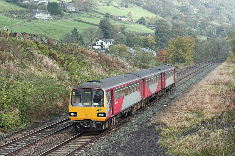 144016 Eastwood 29/10/2008<br /> 5N20 1010 Hebden Bridge-Hebden Bridge (via Hall Royd Jn)