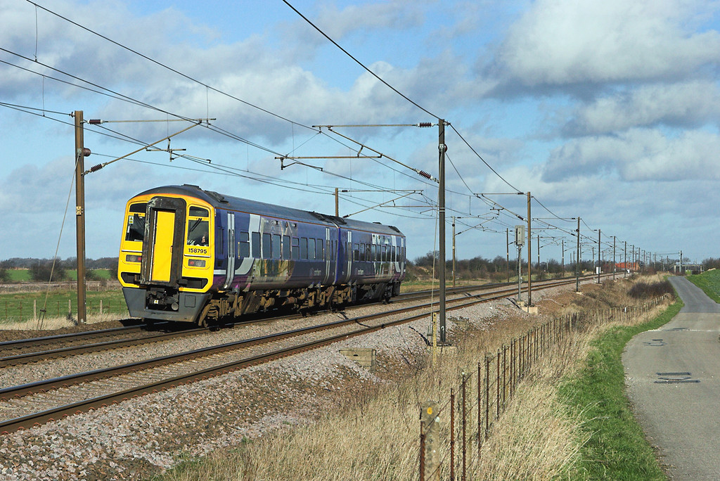 158795 Colton Junction 30/1/2008<br /> 2R62 1251 Selby-York