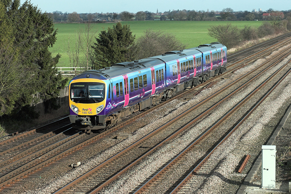 185120 Colton Junction 30/1/2008<br /> 1F65 1045 Scarborough-Liverpool Lime Street