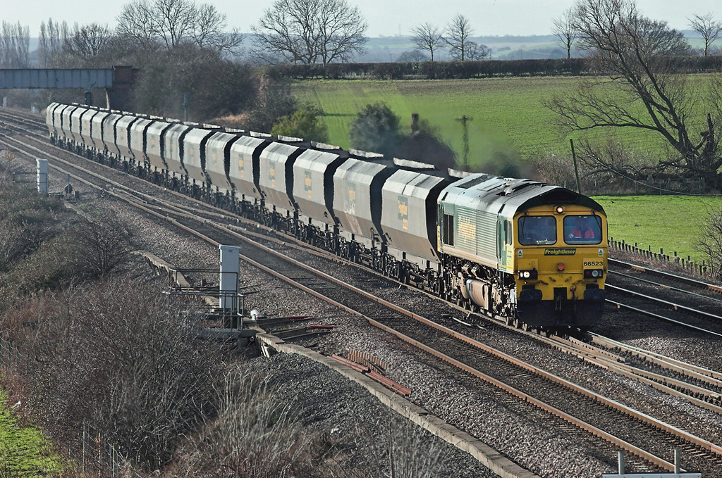 66523 Colton Junction 30/1/2008<br /> 4N39 1015 Drax PS-Butterwell